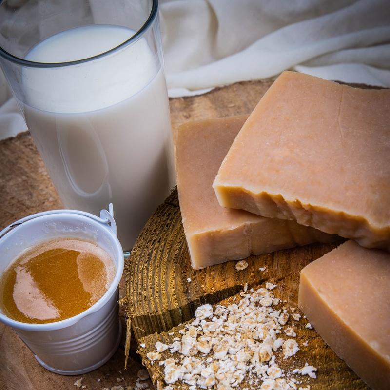 Rosebud Meadow Honey & Oats Goats Milk Soap