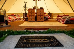 Rosebud Meadow Bell Tents Interior 2