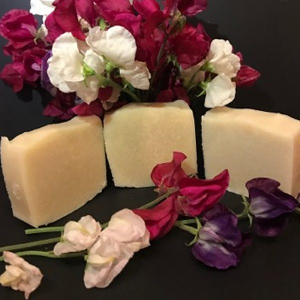 Rosebud Meadow Sweet Pea Goats Milk Soap